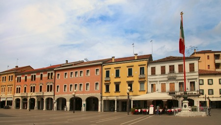 VENICE, MESTRE-June 29, 2014: Mestre on June 29, 2014. Piazza Erminio Ferretto in Italy. Mestre is the most populated urban area of the mainland of Venice, part of the territory of the city of Venice, in Veneto, Italy.