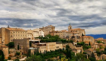 gordes: Medieval hilltop town of Gordes. Provence. France. Stock Photo