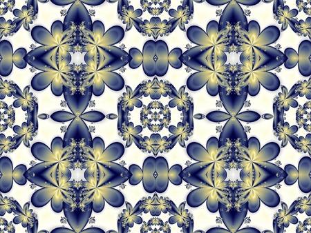 Flower pattern in fractal design. Artwork for creative design, art and entertainment. photo
