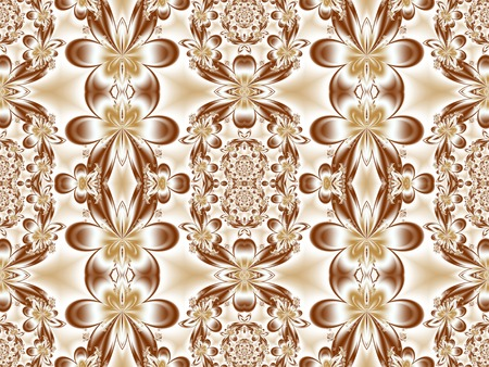 carpet flooring: Flower pattern in fractal design. Artwork for creative design, art and entertainment. Stock Photo