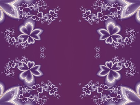 generating: Flower pattern in fractal design. Purple palette. Artwork for creative design, art and entertainment.