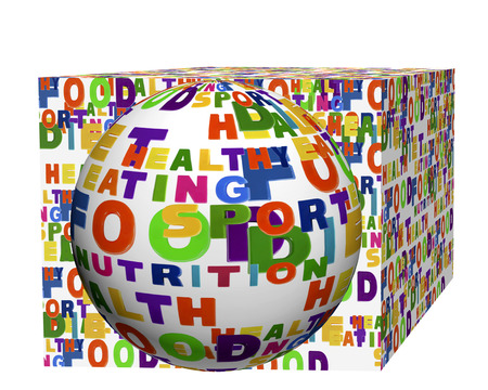 tag cloud: Conceptual image of a tag cloud, expressed as a rectangle and scope.