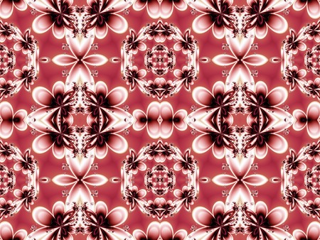 generating: Flower pattern in fractal design. Artwork for creative design, art and entertainment. Stock Photo