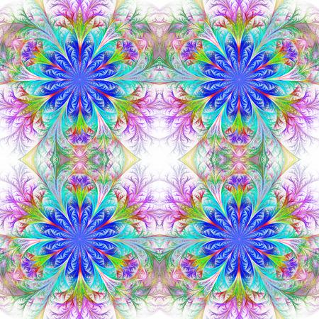 feelers: Beautiful pattern in fractal design. Collection - frosty pattern. Blue palette.