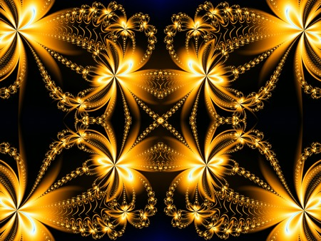 fire flower: Fire Flower pattern in fractal design. Brown and fire. Computer generated graphics.