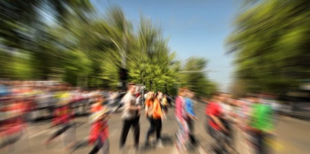 creativ: Abstract background. Pedestrians walking - rush hour i.