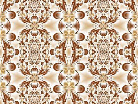 carpet and flooring: Flower pattern in fractal design. Artwork for creative design, art and entertainment. Stock Photo