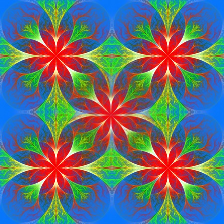 tapis: Beautiful flower fractal pattern. Computer generated graphics. Artwork for creative design, art and entertainment.