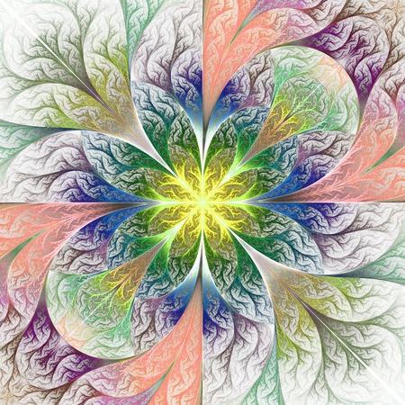 batik: Beautiful pattern in fractal design. Artwork for creative design, art and entertainment.