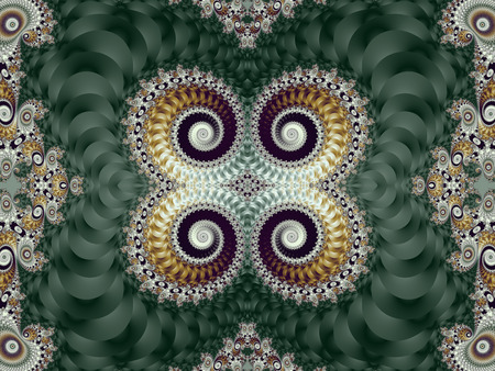 tapis: Beautiful Background with Spiral Pattern. Green and gray palette. Artwork for creative design, art and entertainment.