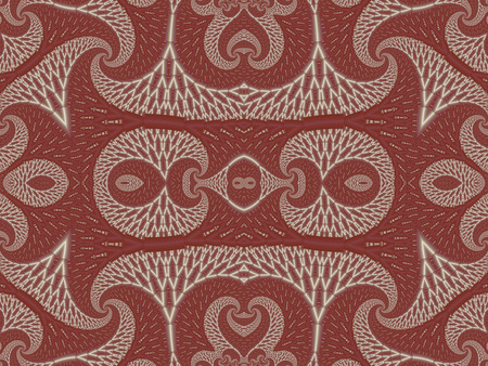 carpet and flooring: Symmetrical Textured Background with Spirals. White and vinous palette. Computer generated graphics.