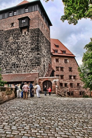 bayern old town: NURNBERG, GERMANY - JULY 13 2014. View at the famous  Kaiserburg Imperial Castle in Nuremberg, Germany