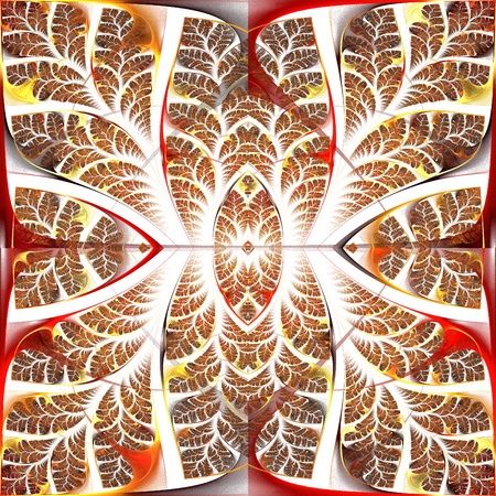 fabulous: Fabulous fractal pattern. Collectiont - tree foliage. Computer generated graphics. Stock Photo