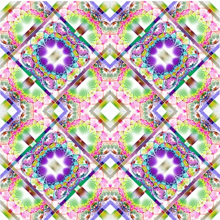 rhinestones: Fabulous diagonal fractal pattern with shiny strips. Collection -  rhinestones. Artwork for creative design, art and entertainment. Stock Photo
