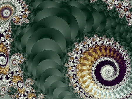 carpet and flooring: Beautiful Background with Spiral Pattern. Green and gray palette. Artwork for creative design, art and entertainment.