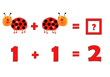 cartoon math: Illustration of Education Mathematics for Preschool Children