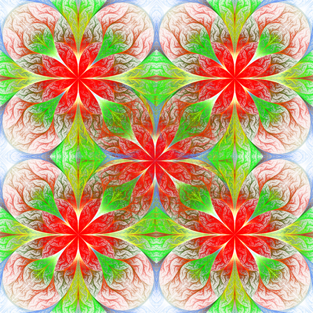 entertainment graphics: Beautiful flower fractal pattern. Computer generated graphics. Artwork for creative design, art and entertainment.