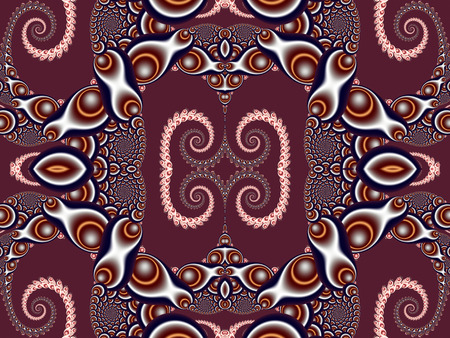 vinous: Beautiful Background with Spiral Pattern. Vinous and gray palette. Artwork for creative design, art and entertainment.