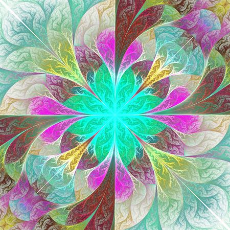carpet flooring: Beautiful fractal flower. Element of design. Artwork for creative design, art and entertainment.
