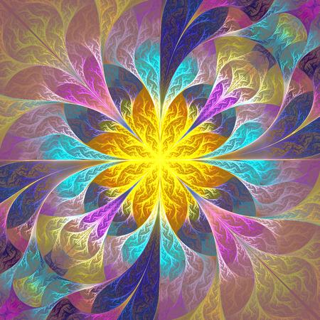 carpet and flooring: Beautiful fractal flower. Element of design. Artwork for creative design, art and entertainment.