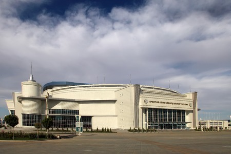 martial ways: Ashgabat, Turkmenistan - October 20, 2015.  Part of the complex - Olympic Village (Ashgabat, 2017). October 20, 2015.  Ashgabat first in the Central Asian region has received the right to host the Asian Indoor Games Editorial