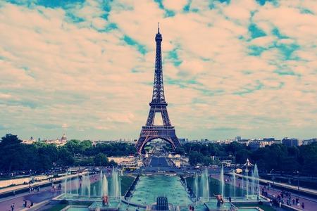 built tower: Paris - the Eiffel Tower