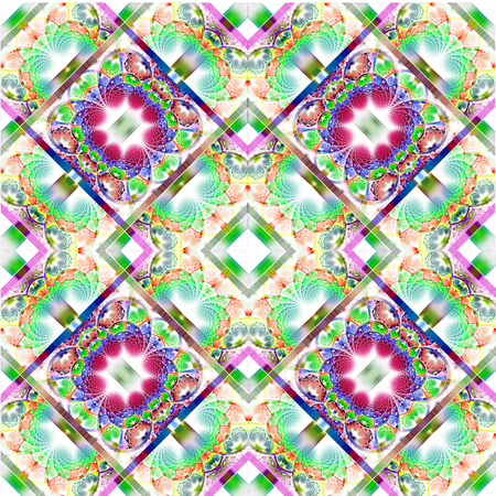 tapis: Fabulous diagonal fractal pattern with shiny strips. Collection -  rhinestones. Artwork for creative design, art and entertainment. Stock Photo