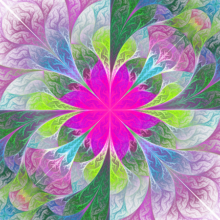 feelers: Beautiful fractal flower. Element of design. Artwork for creative design, art and entertainment.