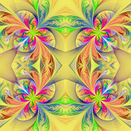 feelers: Symmetric multicolored fractal tracery. Collection - frosty pattern. You can use it for invitations, notebook covers, phone case, postcards, cards and so on.