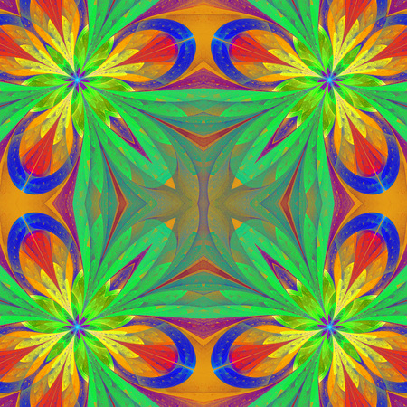 window case: Multicolored symmetrical pattern in stained-glass window style. You can use it for invitations, notebook covers, phone case, postcards, cards and so on.