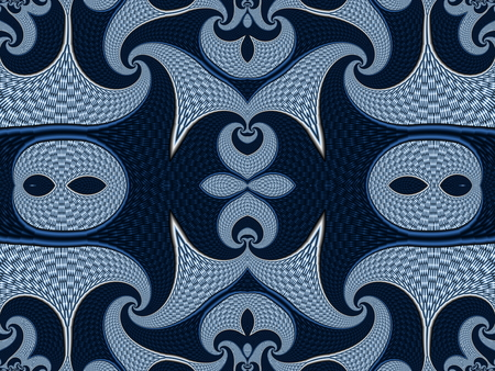 carpet flooring: Symmetrical Textured Background with Spirals. Gray and blue palette. Computer generated graphics.