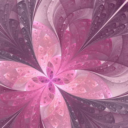 purple wallpaper: Beautiful diagonal fractal flower or  butterfly in stained-glass window style. Pink and purple. Artwork for creative design, art and entertainment.