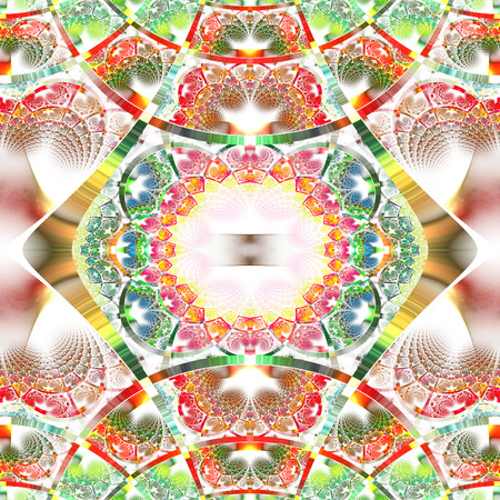 rhinestones: Beautiful fractal pattern with shiny strips. Collection -  rhinestones. Artwork for creative design, art and entertainment.