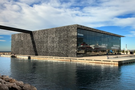 civilizations: MARSEILLE, FRANCE - November 19, 2015 : The modern building of Museum of European and Mediterranean Civilizations (MuCEM). It was  inaugurated on 2013 when the city was the European Capital of Culture Editorial