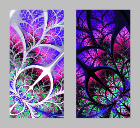 couple back to back: Mobile phone cover back with beautiful Pattern in fractal design.