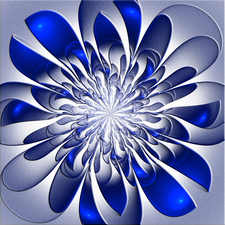 bedspread: Beautiful lush fractal flower with embossed effect. Artwork for creative design, art and entertainment.