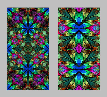 glass windows: Mobile phone cover back with beautiful Pattern in fractal design.