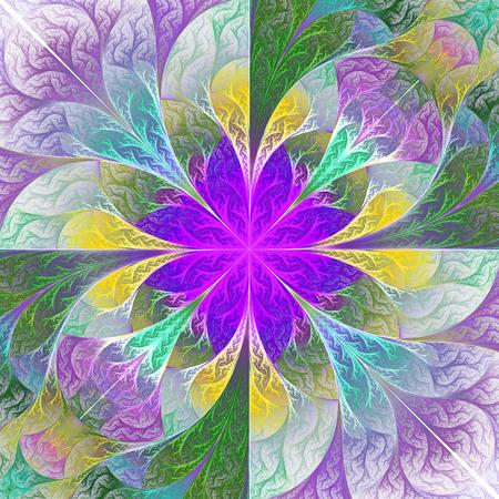 feelers: Beautiful fractal flower. Element of design.
