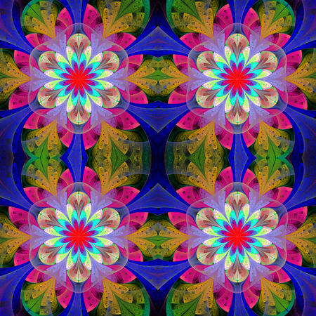 bedspread: Multicolored seamless background in stained glass window style.