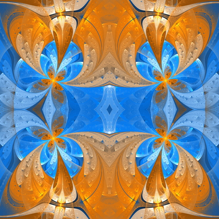 bedspread: Seamless background in stained glass window style.