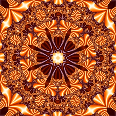 carpet flooring: Fabulous mandala pattern for background. Stock Photo
