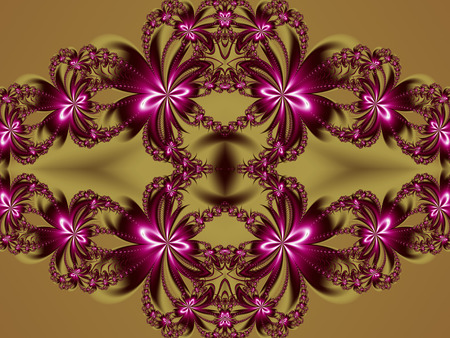 tapis: Flower fractal pattern. Stock Photo