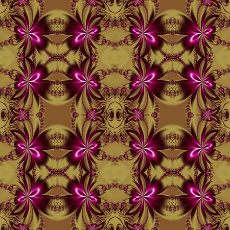 bedspread: Seamless flower fractal pattern.