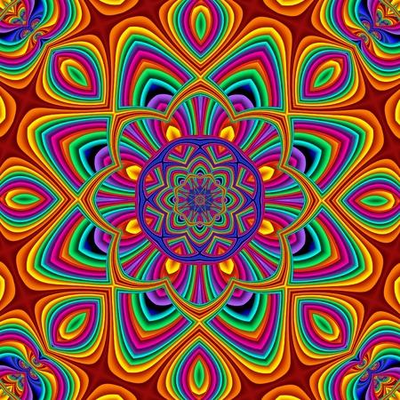 etnic: Colorful abstract mandala background.