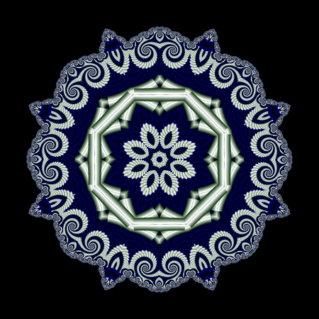 bedspread: Abstract openwork background with circle ornament.