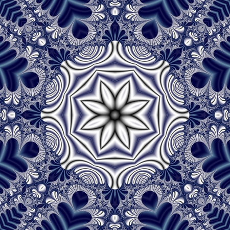 carpet flooring: Fabulous symmetrical mandala pattern for background.
