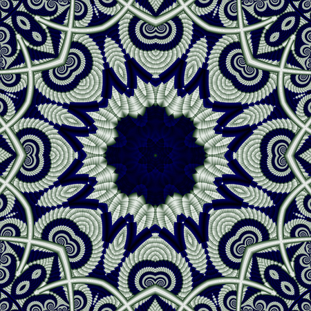tapis: Abstract openwork background with circle ornament.