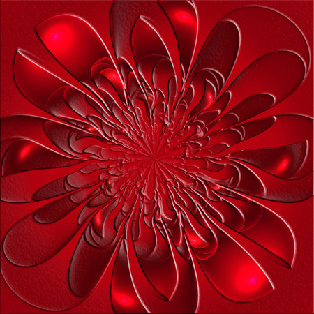 lush: Beautiful lush fractal flower with embossed effect. Artwork for creative design, art and entertainment.