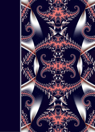 notebook cover: Design of spiral ornamental notebook cover Stock Photo