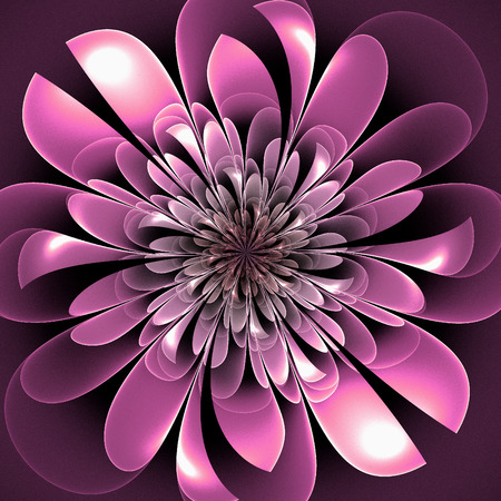 lush: Beautiful lush fractal flower. Artwork for creative design, art and entertainment.